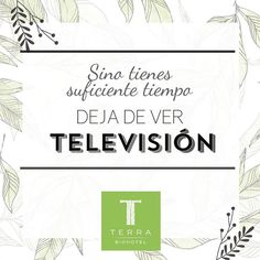 Si no tienes suficiente tiempo, deja de ver televisión. #tienesunacitaconelplaneta  #savethedatewithplanetearth #terrabiohotel #hotelescolombia #hotelecológico #turismosostenible #ecoturismo #ecoturismocolombia #slowlife #colombia