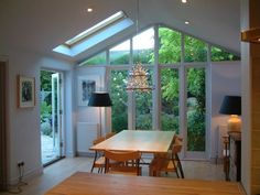 Ideas for the conservatory kitchen glass extension conservatory kitchen 31 Kitchen Diner Extension, House Design, Bungalow Extensions, Dining Room Small, Home, Glass Extension, House Styles, Room Extensions, New Homes