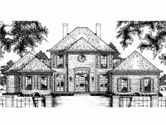 Build your ideal home with this Chateau house plan with 5 bedrooms(s), 4 bathroom(s), 2 story, and 3348 total square feet from Eplans exclusive assortment of house plans.