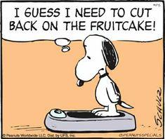 #peanutsspecials #ps #pnts #schulz #snoopy #cutback #fruitcake