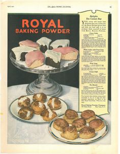Vintage Royal Baking Powder Advertisement 1928 Vintage Ads Food, Retro Food, Vintage Baking, Vintage Kitchen, Retro Recipes, Old Recipes, Vintage Recipes, Baking Items, Baking Supplies