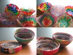 So cool! no tute for the bead bowls so I googled it. Its so cool. I'm doing this. Pony beads, aluminum foil, 400 degree oven and a couple pans.