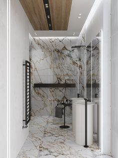 Search shower room renovation designs and embellishing suggestions. Discover inspiration for your shower room remodel, including colors, storage, formats and organization. Futuristisches Design, Deco Design, Floor Design, Interior Design Kitchen, Bathroom Interior, Modern Bathroom, Bad Inspiration, Bathroom Inspiration, False Ceiling Design