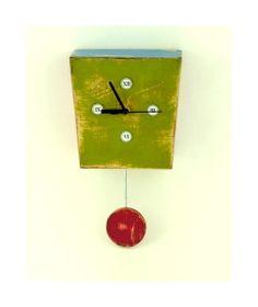 Pendulum wall clock Green  Mothers day gift by ArtmaStudio on Etsy, $55.00