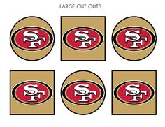 Free 49ers Super Bowl party printables! #superbowl #49ers