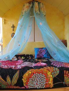 ⋴⍕ Boho Decor Bliss ⍕⋼ bright gypsy color & hippie bohemian mixed pattern home decorating ideas -