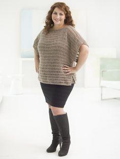 Curvy Girl Drop Stitch Pullover (Knit)