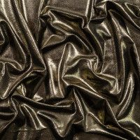 Black Stretch Velour with All-Over Gold Foil