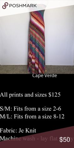 One Left!! NWT Sandrina Damiano Maxi Dress. NWT Jersey Knit Sandrina Damiano Maxi Dress. Very quality material. Can be cut to any length and/ or style.  Made in the USA.  Aloha and mahalo for checking out my closet!  Retails for $125.00.  Buy one for 50$ or two for 89$ Dresses Maxi
