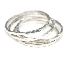 Petite Sterling Silver Stacking Ring - $15.00 - Handmade Jewelry, Crafts and Unique Gifts by Solo Artworks #sterlingsilverrings #stackingrings #handmadejewelry #giftsforgirlfriends #handmadeholidays #thecraftstar