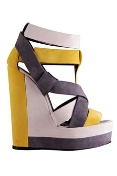Pierre Hardy shoes. Loving these colors. Amazing Wedges