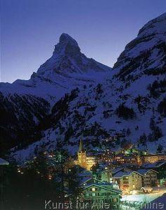 Wallis Zermatt Matterhorn, Abendstimmung