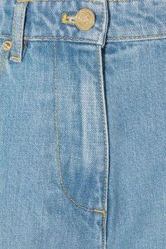 KENZO - Appliquéd Slim Boyfriend Jeans - Mid denim - FR36