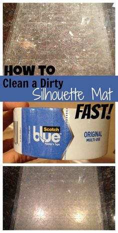 Silhouette Cutting Mat Cleaning: Easiest Way to Remove Lint, Dust & Paper ~ Silhouette School