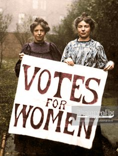100 Years on: Women's Suffrage in Colour | PhotograFix: Tom Marshall B.A. (Hons) Photo Colouriser