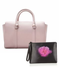 COORDINATING COLORS: Bag: Zara, $70; zara.com. Pouch: Christopher Kane, $565; net-a-porter.com #InStyle
