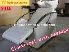 2016 PVC leather electric shampoo chair backwash shampoo unit shampoo basin massage table