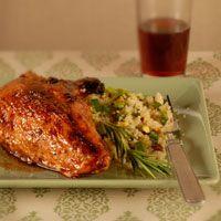Pomegranete Glazed Chicken. For Coltons Birthday dinner!