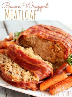 Bacon Wrapped Meatloaf is a family favorite! Get the recipe at SixSistersStuff.com