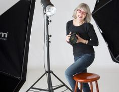 Mississauga portrait photographer Jeanne McRight in her professional studio