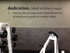 DEDICATION Definition Wall Decal.   Great for Gyms, Schools, community centers, fitness studios.   Available at JandiCo Graphix