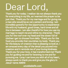 Prayer Of The Day - Being Thankful - http://unwf.co/1dUsgMf #marriage #prayer