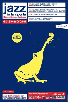 Eric Collet, Jazz in Langourla 2015 Rock Posters, Music Posters, Jazz Poster, Jazz Festival, Design Graphique, Flyers, Album Covers, My Eyes, Illustration