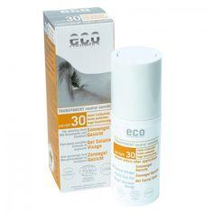 Crema solar Facial FPS 30 Ecocosmetics.  El gel facial solar ofrece la protección ideal para la cara y está indicado para pieles extra-sensibles. El Espino amarillo y el extracto de granada, dan a la piel el suministro de nutrientes esenciales y que la protegen de la pérdida de humedad.    Para pieles sensibles