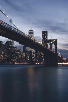 Washington Bridge New York #NewYork #NYC #Washingtonbridge #Manhattan #Brooklyn #Bridge #sky #night #color