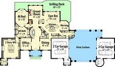 European Castle with Two-Story Master Closet - 12292JL   Architectural Designs - House Plans