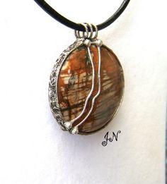 Náhrdelník - Jaspis Pendant Necklace, Jewelry, Jewlery, Bijoux, Schmuck, Jewerly, Jewels, Jewelery, Drop Necklace
