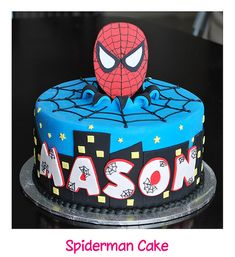 cake idea, cake spiderman, names, mason, kid birthdays, angel cupcakes, angels, birthday cake, spiderman cakes