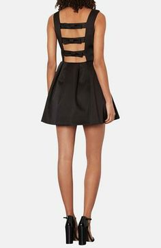 Date night! Cutout and bow satin dress by Topshop