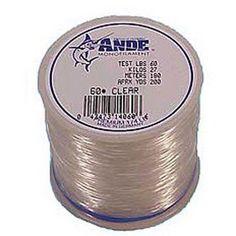 Ande Premium Monofilament 1 lb Spool Fishing Line, Clear, Multicolor