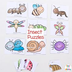 Insect Theme Printable Puzzles