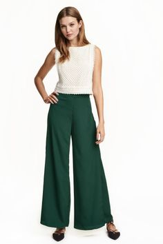 Wide trousers with slits | H&M