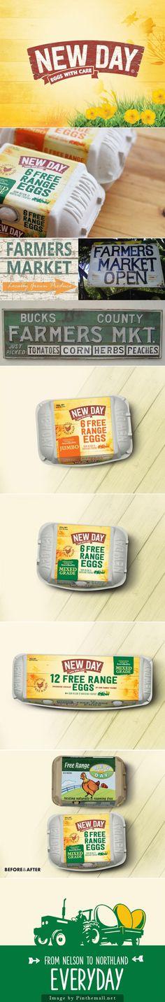 New Day Free Range #Eggs, Creative Agency: Coats Design - http://www.packagingoftheworld.com/2014/10/new-day-free-range-eggs.html