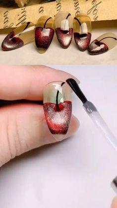 Nail Art Designs Videos, Nail Design Video, Nail Art Videos, Acrylic Nail Designs, Coffin Nails, Gel Nails, Nail Polish, Stiletto Nails, Nail Art Hacks