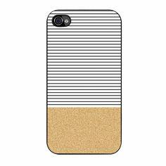 Gold Glitter Stripes iPhone 4/4s Case