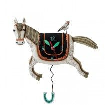 Designer Pendulum Wall Clock - Happy Horse - Available now on Becky & Lolo