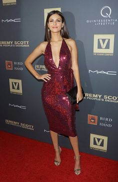 Pin for Later: These Victoria Justice Looks Show She's Not Afraid to Take a Fashion Risk September 2015 At the Jeremy Scott: The People's Designer premiere in New York City. Top Celebrities, Celebs, Vicky Justice, Fitness Video, Victoria Justice, Red Carpet Looks, Girls In Love, Dress To Impress, Beauty Women