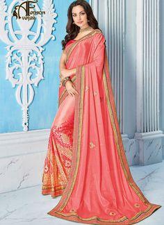 Pink Designer Saree Online