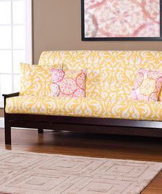 A lovely yellow futon cover.