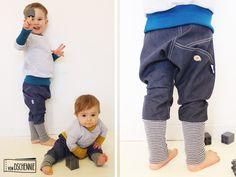 ♥ Gr. 86-122 - Denim Unisex Jeans-Pumphose♥ von von Dschennie auf DaWanda.com