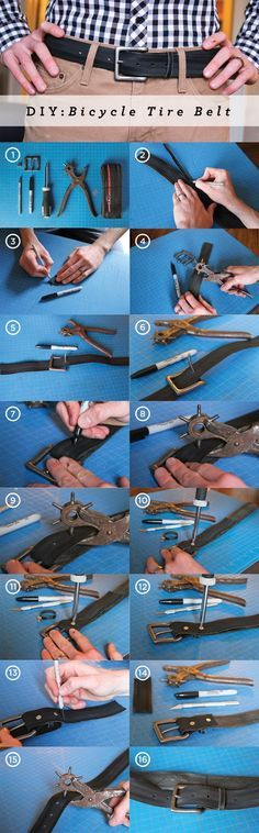 Mach Deine Reifengürtel doch selbst! Wiederverwertung eines Fahrradschlauches...