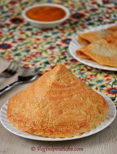 Quinoa mung dosa ~ Savory Indian Crepes made with quinoa and mung