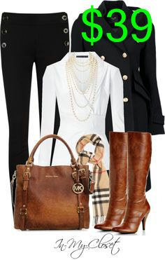 Fall - #95 by in-my-closet on Polyvore (Burberry with a Michael Kors bag?!?! SWOON!!),DESIGNER MICHAEL KORS BAGS WHOLESALE,michael kors handbags cheap