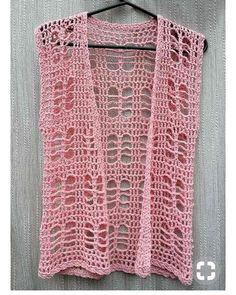 Exceptional Stitches Make a Crochet Hat Ideas. Extraordinary Stitches Make a Crochet Hat Ideas. Gilet Crochet, Crochet Vest Pattern, Crochet Fabric, Crochet Cardigan, Crochet Lace, Crochet Patterns, Beach Crochet, Booties Crochet, Blanket Patterns