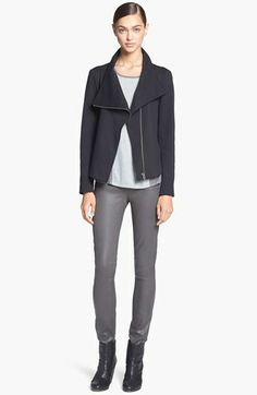 A great jacket is the statement piece of your outfit!  Take your jeans and tee to the next level! HELMUT Helmut Lang Jacket, Tee & Skinny Pants  available at #Nordstrom