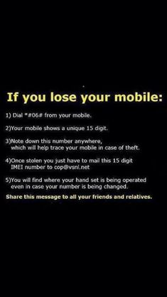 Excellent to know! Just in case your phone ever gets stolen, write your IMEI number down your phone can be traced, even if its under a new number. Android Phone Hacks, Cell Phone Hacks, Android Smartphone, Life Hacks Websites, Hacking Websites, Life Hacks Computer, Computer Basics, Simple Life Hacks, Useful Life Hacks